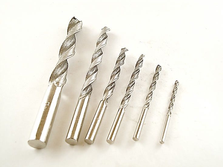 Electroplated Diamond Twist Drills
