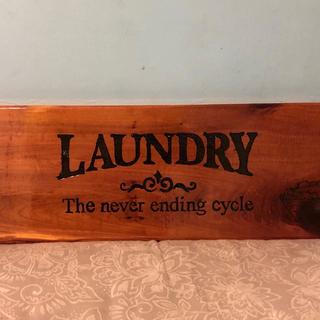 Custom wood Laundry Room Sign