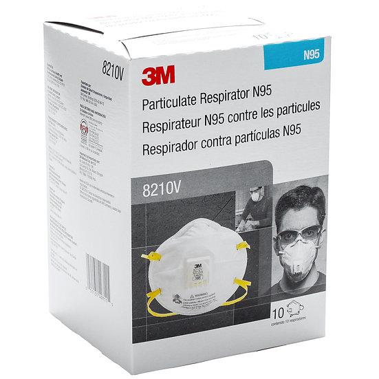 3M™ Particulate Respirator, 8210V, N95 - 10 per box