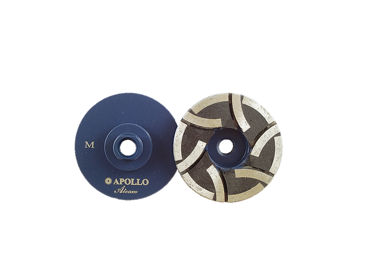 """4"""" Apollo A-Team Resin Filled Flat Face Cup Wheel"""