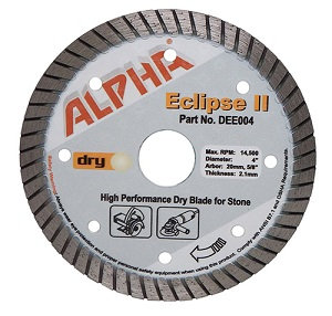 Alpha Eclipse Granite Turbo Blade for Dry Cutting