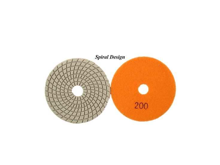 Dry and Wet Polishing Pad - Sprial Design