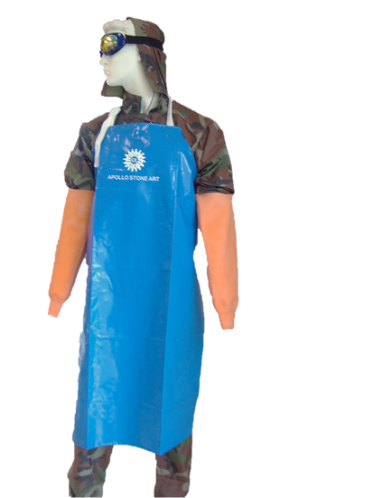 Apollo Blue Apron and Orange Sleeves