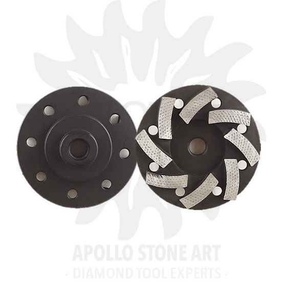 "4"" Apollo A-Team Turbo Segmented Cup Wheel"