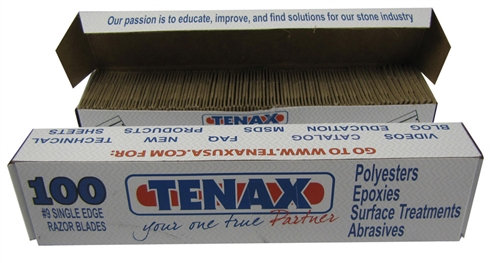 Tenax No.9 Razor Blades - Box of 100pcs