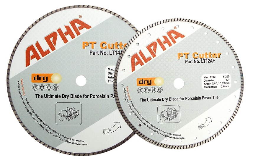 Alpha® PT Cutter Dry Turbo Blade for Hardscape