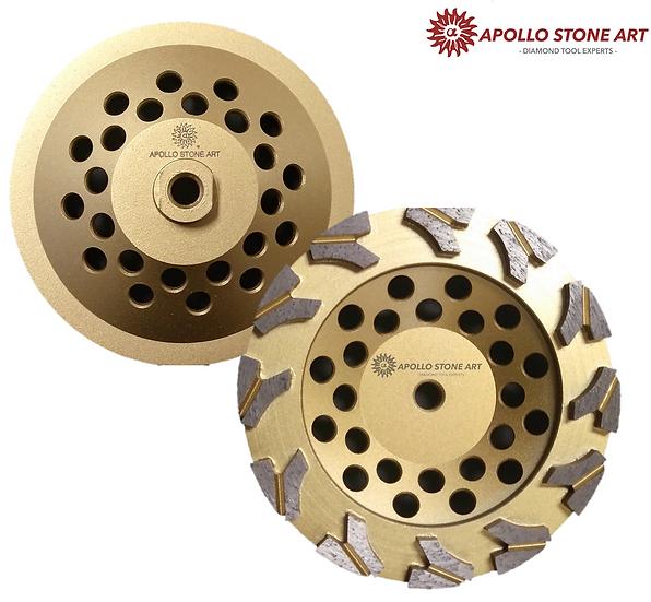 "7"" Apollo Professional Concrete Cup Wheels - Arrow Segments"
