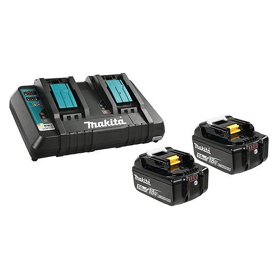 Makita 18V (5.0Ah) Li-Ion Battery & Dual-Port Charger Kit