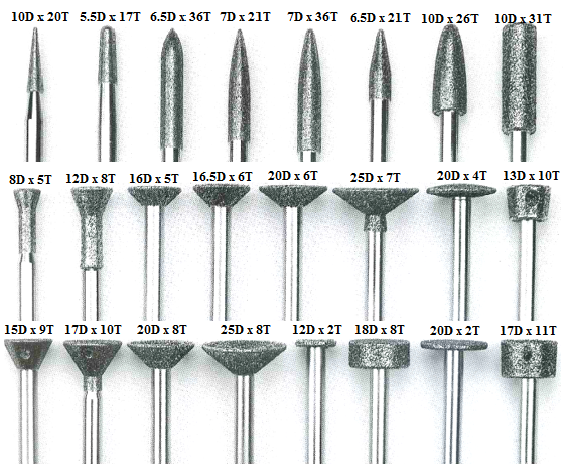 Electroplated Diamond Carving Tools