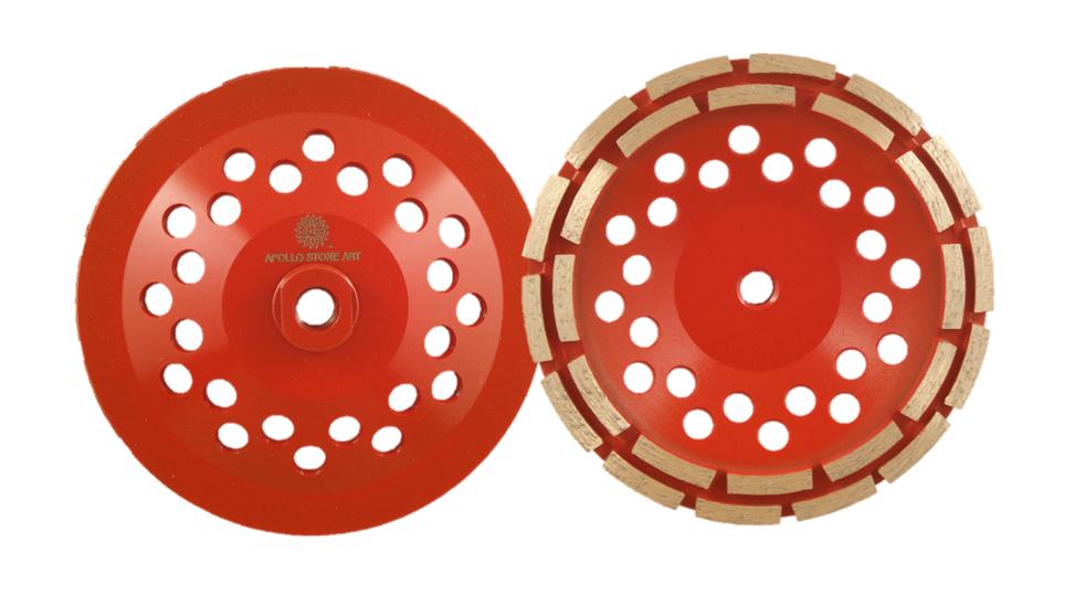 "7"" Apollo Professional Double Row Cup Wheel"