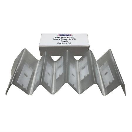 Tenax No.9 Ceramic Razor Blades - Pack of 10