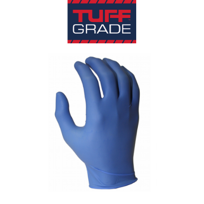 Tuff Grade Blue Nitrile Disposable Gloves, 100 pairs/Box
