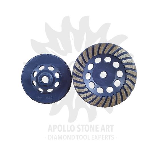 Apollo Turbo Segmented Cup Wheel - Blue