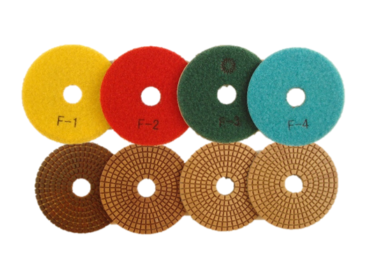 "4"" 4-Step Non-Colour Polishing Pads"