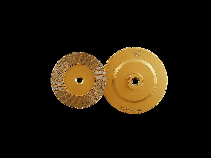 Apollo Turbo Segmented Cup Wheel - Gold