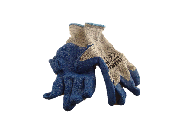 Blue Rubber Coated Gloves - per pair