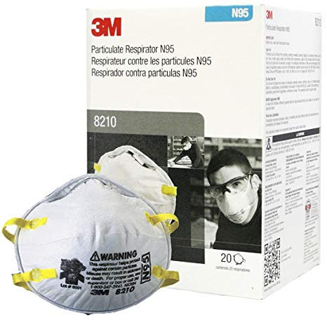 3M 8210, N95 Particulate Respirators – 20 per box