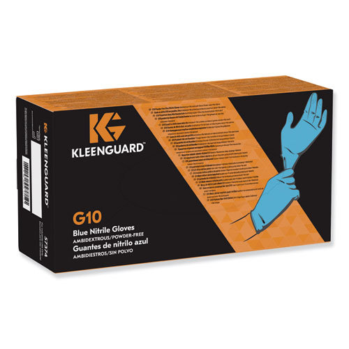 KleenGuard Blue Nitrile Disposable Gloves, 100 pairs/Box