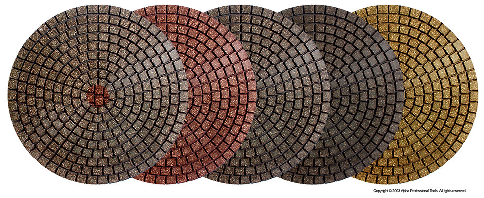 "Alpha® 4"" Ceramica EX Wet Polishing Pads"