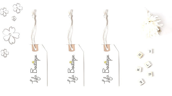 Price tags designed for Lyla Boutique.