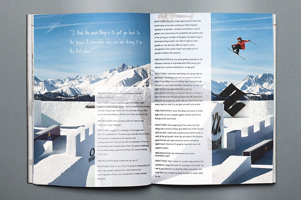 This is a Miss Mountain Magazine editorial design sample.