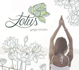 Branding asset desiged for Lotus yoga studio.