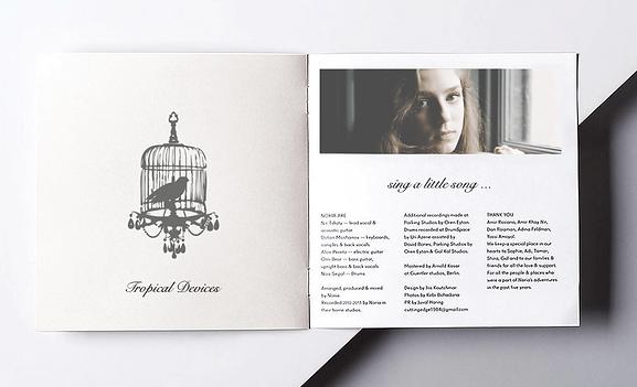 Birdy album design interior.