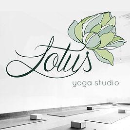 Logo desiged for Lotus yoga studio.