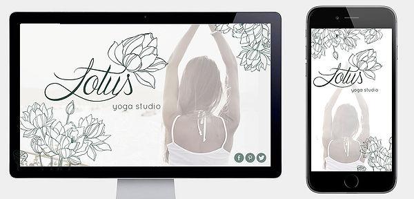 Website & mobile splash page designed for Lotus yoga studio.