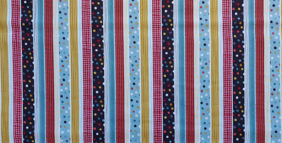 Windy Day Stripes and Dots fabric by Makower