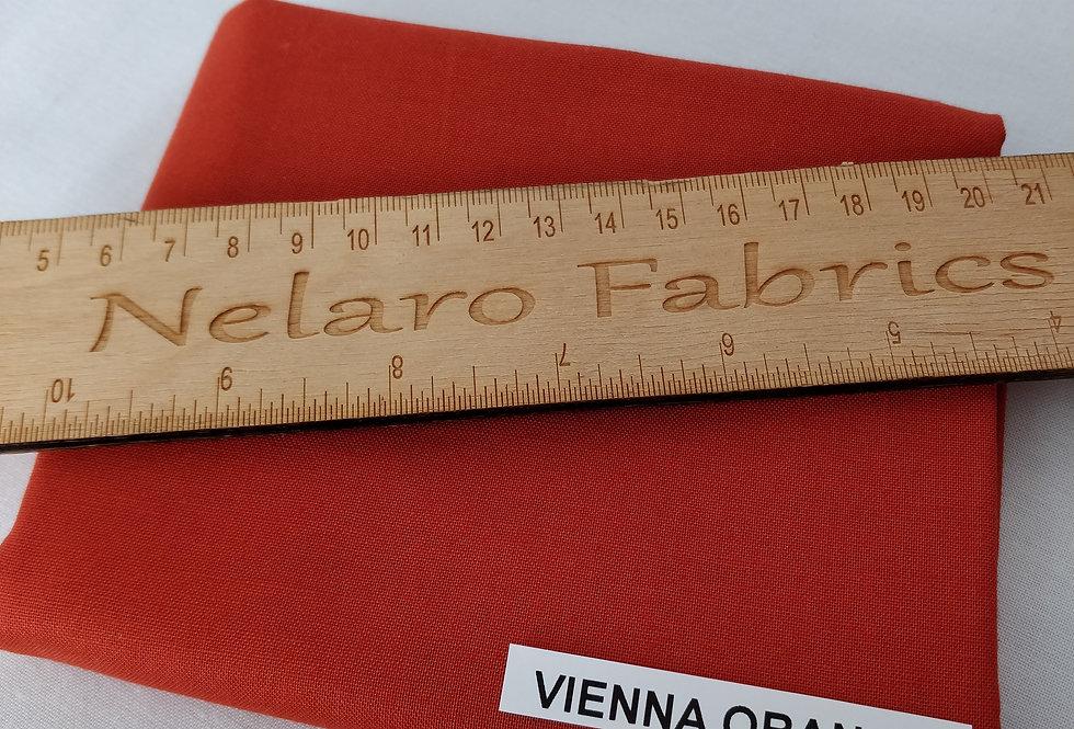 Spectrum Plain Vienna Orange Solid fabric by Makower