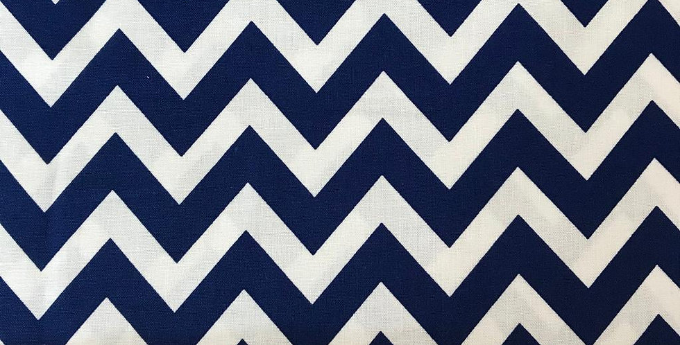 Remix Chevron zigzag Navy blue fabric by Robert Kaufman
