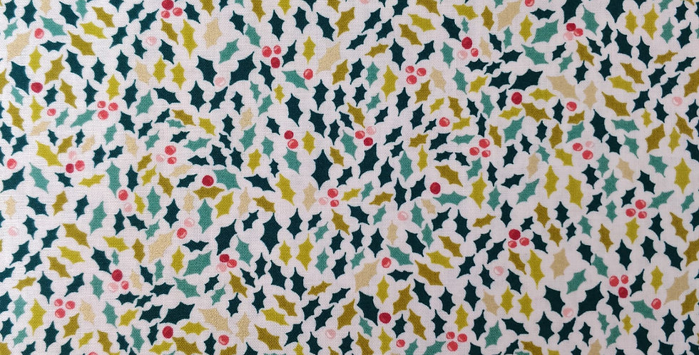 Christmas Merry Holly fabric by Makower