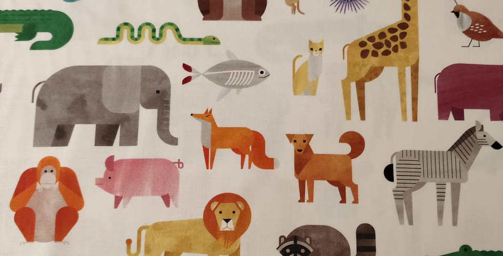 A to Z animals fabric by Robert Kaufman