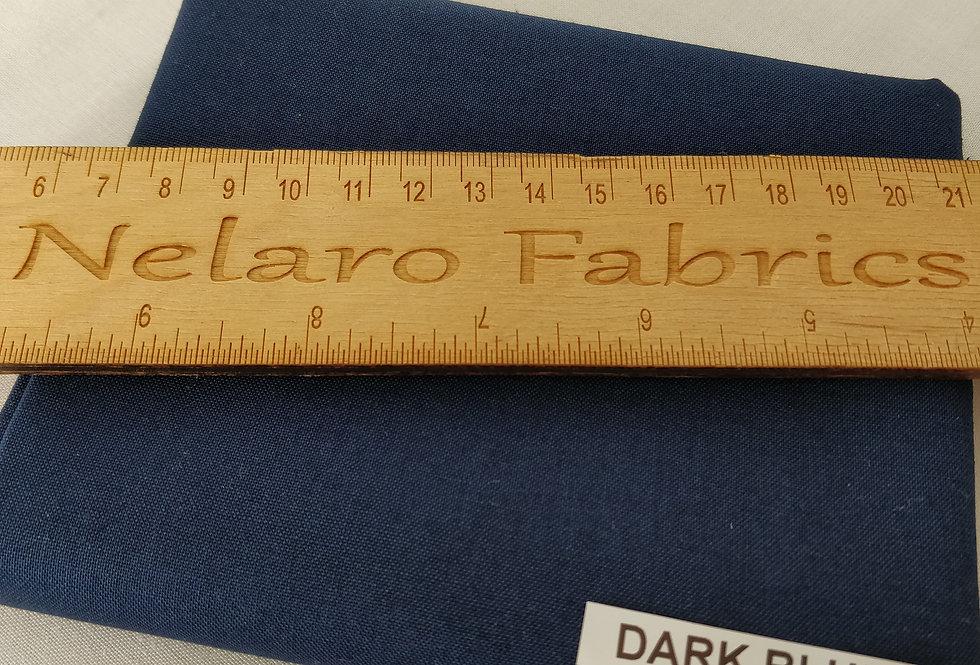 Spectrum Plain Dark Blue Solid fabric by Makower