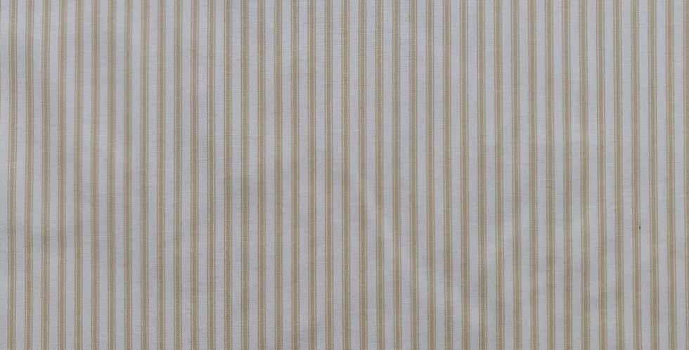 Ticking Stripes dark cream fabric by Makower