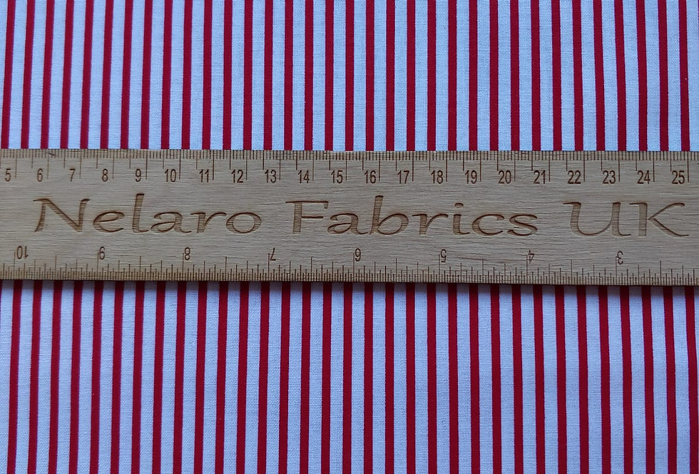 Large Stripe white/red fabric by John Louden