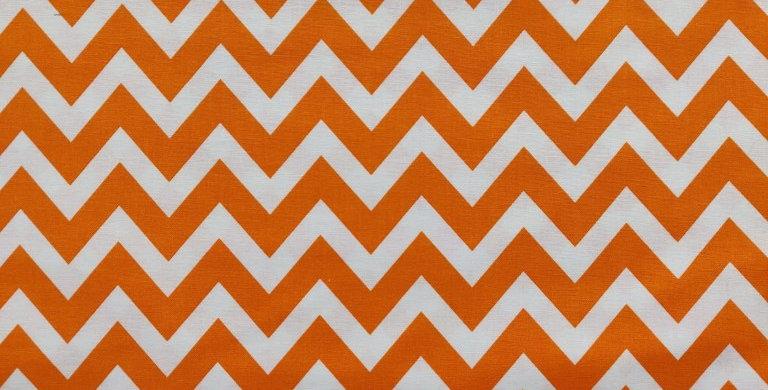 Remix Chevron zigzag orange fabric by Robert Kaufman