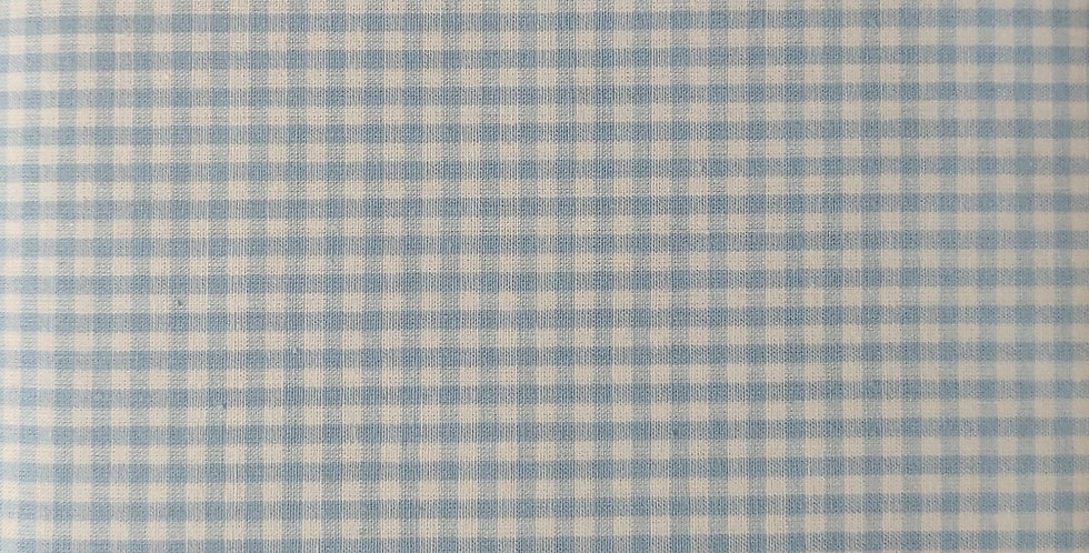 Tiny Gingham light blue fabric by John Louden