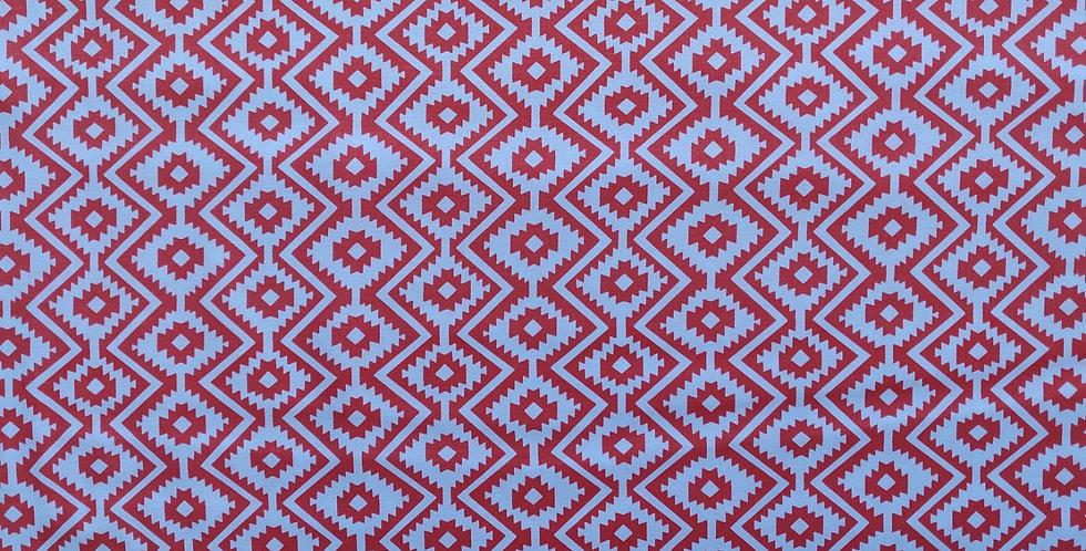 Eduardo Geometric orange fabric by Michael Miller