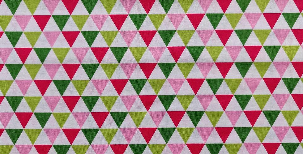 Remix Triangles Garden fabric by Robert Kaufman