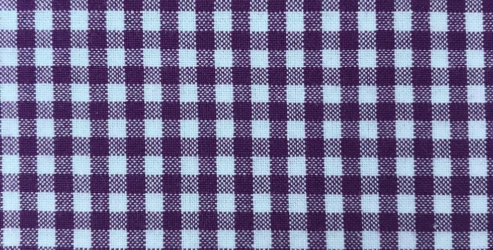 Tiny Gingham purple fabric by Robert Kaufman