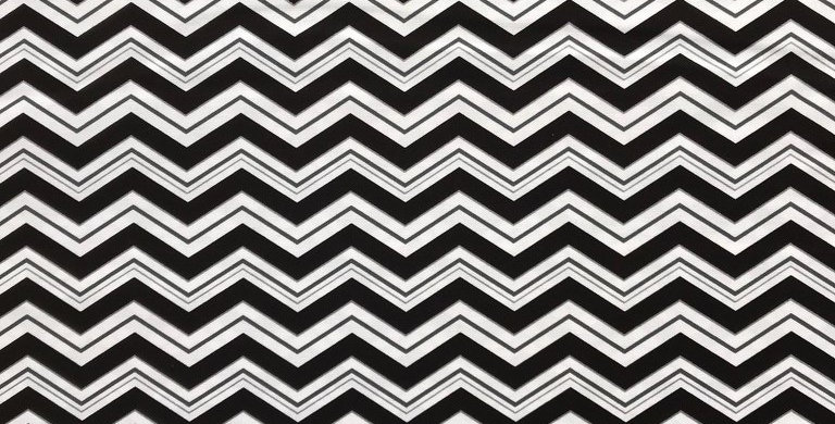 Superhero Collection Chevron / Zigzag black fabric by Robert Kaufman