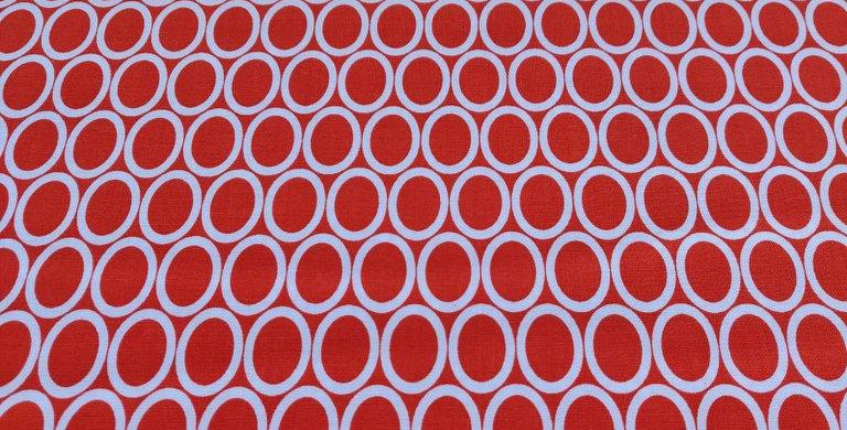 Remix Ovals orange fabric by Robert Kaufman