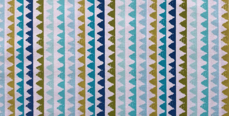 Zip Stripes green and blue fabric by Michael Miller