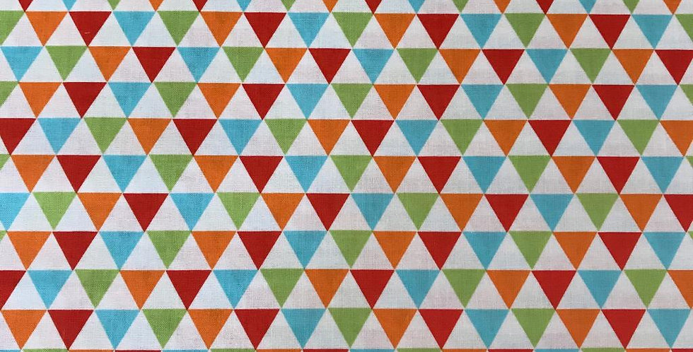Remix Triangles multicoloured fabric by Robert Kaufman