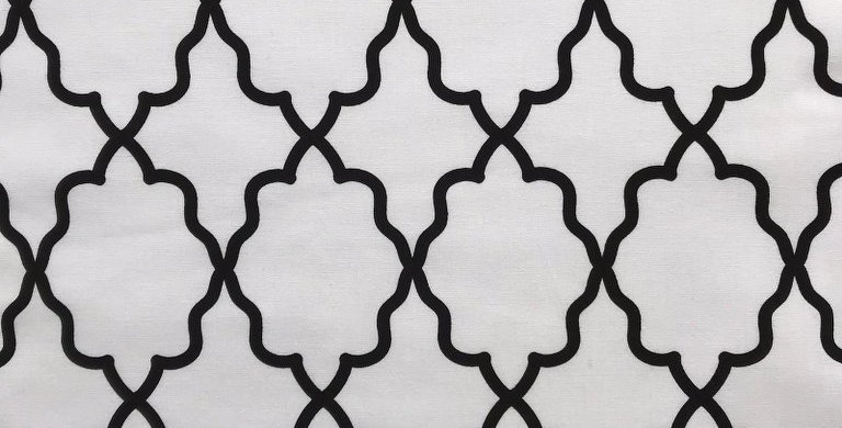 Moroccan Lattice black and white fabric by Michael Miller