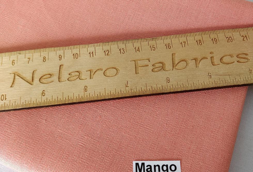Essex Linen Blend Mango fabric by Robert Kaufman