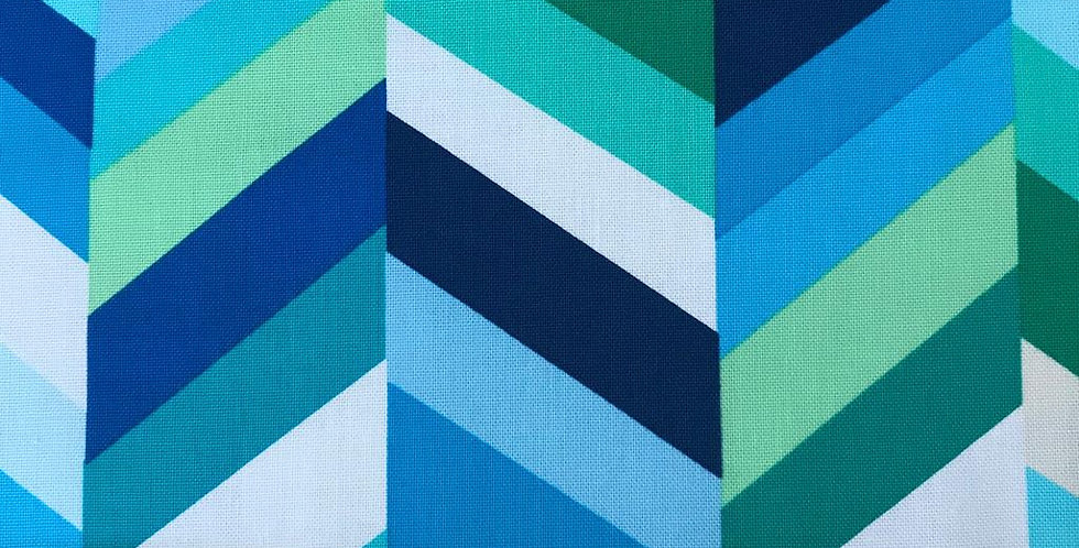 Geo Pop Canvas Lagoon blue fabric by Robert Kaufman