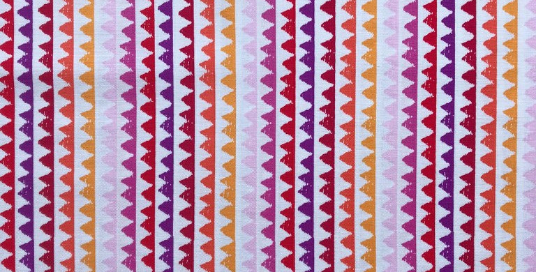 Zip Stripes red purple yellow pink orange fabric by Michael Miller